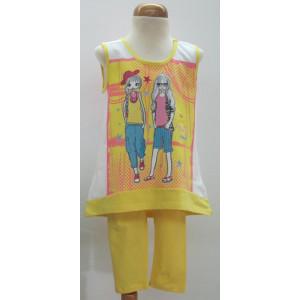 Μπλουζοφόρεμα & Κολάν (Κίτρινο) (Κωδ.291.60.015)