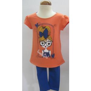 Μπλουζοφόρεμα & Κολάν (Πορτοκαλί) (Κωδ.291.60.013)
