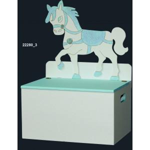 Ξύλινο Μπαούλο Άλογο (Κωδ: ΚΣ22280_3) (0137)