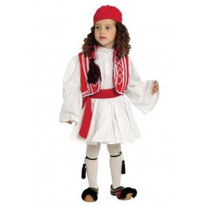 Παιδική Στολή Παραδοσιακή Τσολιάς Κόκκινος 124.105.003