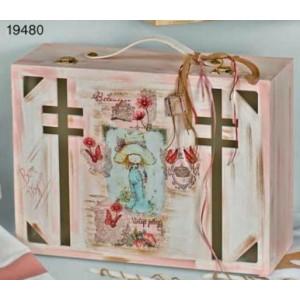 Κουτί ξύλινο βαλίτσα (Κωδ.Κ112-1)