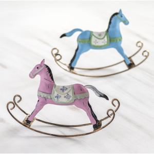 Μπομπονιέρα Μεταλλικό αλογάκι (Παρίσις) (Κωδ.70208-2178)