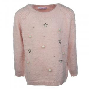 Μπλούζα Πλεκτή Παιδική (Ροζ) (Κωδ.291.018.001+3+6)
