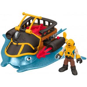 Imaginext Captain Nemo & & Σαλάχι Stingray (DTH43)