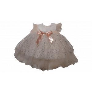Φόρεμα Τούλινο Σομόν (Κωδ.722.330.001)
