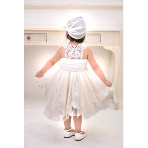 Ολοκληρωμένο πακέτο βάπτισηs με αυτό το φόρεμα (Baby bloom #119.75-128#) Με βαλίτσα rain η παγκάκι θρανίο Δωρεάν μεταφορικά