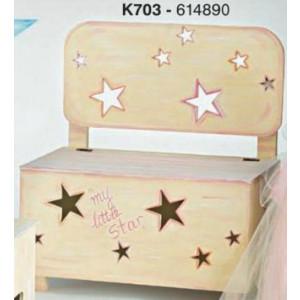 Παγκάκι ξύλινο αστεράκια (Κωδ.Κ703-1)