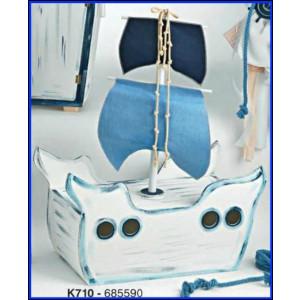 Ξύλινο καράβι βάπτισης  (Κ710-1)