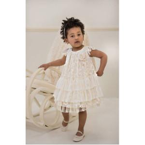 Ολοκληρωμένο πακέτο βάπτισηs με αυτό το φόρεμα (Baby bloom #119.80-128#) Με βαλίτσα rain η παγκάκι θρανίο Δωρεάν μεταφορικά