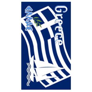 Πετσέτα Θαλάσσης Σημαία Ελλάδα Φύλλο Ελιάς (03-44048)