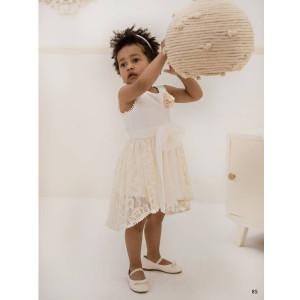 Ολοκληρωμένο πακέτο βάπτισηs με αυτό το φόρεμα (Baby bloom #119.129-128#) Με βαλίτσα rain η παγκάκι θρανίο Δωρεάν μεταφορικά