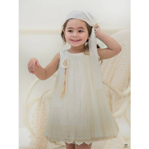 Ολοκληρωμένο πακέτο βάπτισηs με αυτό το φόρεμα (Baby bloom #119.74-120#) Με βαλίτσα rain η παγκάκι θρανίο Δωρεάν μεταφορικά