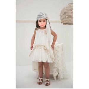 Ολοκληρωμένο πακέτο βάπτισηs με αυτό το φόρεμα (Baby bloom #119.84-120#) Με βαλίτσα rain η παγκάκι θρανίο Δωρεάν μεταφορικά