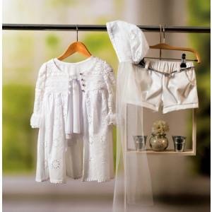 Ολοκληρωμένο πακέτο βάπτισηs με αυτό το φόρεμα Bambolino Natasa (#8822-175-335#) Με βαλίτσα rain η παγκάκι θρανίο Ζητήστε προσφορά !!