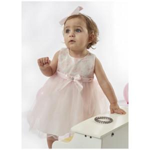 Φόρεμα Βαπτιστικό- Παπουτσάκια Βρεφικό (Ροζ) (# 291.330.085+3#)