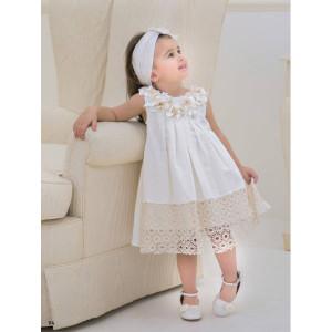 Ολοκληρωμένο πακέτο βάπτισηs με αυτό το φόρεμα (Baby bloom #119.87-120#) Με βαλίτσα rain η παγκάκι θρανίο Δωρεάν μεταφορικά