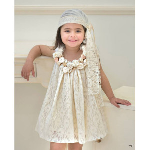 Ολοκληρωμένο πακέτο βάπτισηs με αυτό το φόρεμα (Baby bloom #119.88-120#) Με βαλίτσα rain η παγκάκι θρανίο Δωρεάν μεταφορικά
