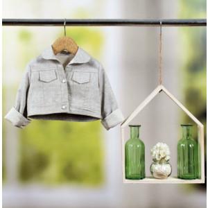 Ζακετάκι Aimilia τύπου jean jacket από 100% cotton glitter εξαιρετικής ποιότητας.