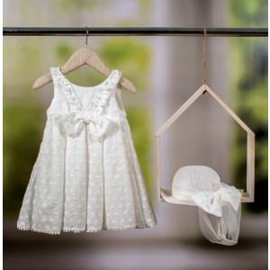 Ολοκληρωμένο πακέτο βάπτισηs με αυτό το φόρεμα Bambolino Amalia (#8752-135-295#) Με βαλίτσα rain η παγκάκι θρανίο Ζητήστε προσφορά !!