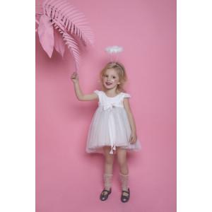 Ολοκληρωμένο πακέτο βάπτισηs με αυτό το φόρεμα Bambolino Annita (#8786-175-335#) Με βαλίτσα rain η παγκάκι θρανίο Ζητήστε προσφορά !!