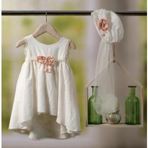Ολοκληρωμένο πακέτο βάπτισηs με αυτό το φόρεμα Bambolino Bebeka (#8801-175-325#) Με βαλίτσα rain η παγκάκι θρανίο Ζητήστε προσφορά !!