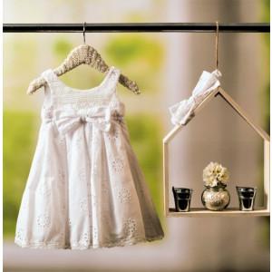 Ολοκληρωμένο πακέτο βάπτισηs με αυτό το φόρεμα Bambolino Sotiria (#8807-150-310) Με βαλίτσα rain η παγκάκι θρανίο Ζητήστε προσφορά !!