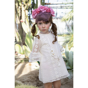 Ολοκληρωμένο πακέτο βάπτισηs με αυτό το φόρεμα Bambolino Zanneta (#8808-155-315#) Με βαλίτσα rain η παγκάκι θρανίο Ζητήστε προσφορά !!