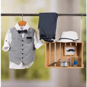 Ολοκληρωμένο πακέτο βάπτισης με αυτό το κοστούμι Bambolino Billys (#8839-165-325#) Με βαλίτσα rain η παγκάκι θρανίο Ζητήστε προσφορά !!