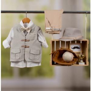Ολοκληρωμένο πακέτο βάπτισης με αυτό το κοστούμι Bambolino Ntinos (#8852-170-330#) Με βαλίτσα rain η παγκάκι θρανίο Ζητήστε προσφορά !!