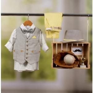 Ολοκληρωμένο πακέτο βάπτισης με αυτό το κοστούμι Bambolino Thanasis (#8863-175-335#) Με βαλίτσα rain η παγκάκι θρανίο Ζητήστε προσφορά !!