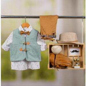 Ολοκληρωμένο πακέτο βάπτισης με αυτό το κοστούμι Bambolino Kostakis (#8880-180-340#) Με βαλίτσα rain η παγκάκι θρανίο Ζητήστε προσφορά !!