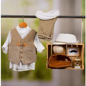 Ολοκληρωμένο πακέτο βάπτισης με αυτό το κοστούμι Bambolino Stratis (#8896-170-330#) Με βαλίτσα rain η παγκάκι θρανίο Ζητήστε προσφορά !!