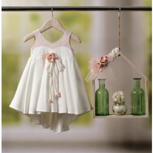 Ολοκληρωμένο πακέτο βάπτισηs με αυτό το φόρεμα Bambolino Malvina (#8911-155-315#) Με βαλίτσα rain η παγκάκι θρανίο Ζητήστε προσφορά !!