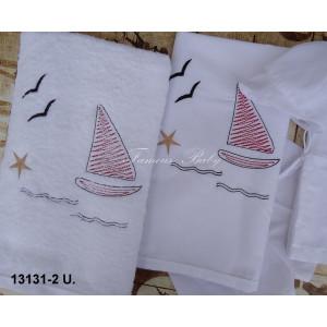Λαδόπανο καράβι λευκό-μπλέ 13131-2  famous baby