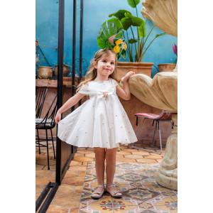 Ολοκληρωμένο σετ βάπτισης κορίτσι Bambolino Agni 9104-140-305  Με Βάλίτσα η παγκάκι θρανίο και με άλλες επιλογές Ζητήστε προσφορά !!