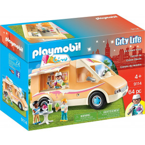 Playmobil, Βαν Παγωτού, 9114, παγωτό, παιδικό παιχνίδι, narlis.gr