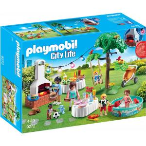 Playmobil, πάρτυ, κήπος, barbeque, party, μπάρμπεκιου, 9272, παιχνίδι, narlis.gr