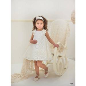 Ολοκληρωμένο πακέτο βάπτισηs με αυτό το φόρεμα (Baby bloom #119.102-128#) Με βαλίτσα rain η παγκάκι θρανίο Δωρεάν μεταφορικά