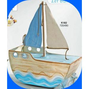 Ξύλινο καράβι βάπτισης  (Κ182-1)