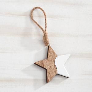 Μπομπονιέρα Βάπτισης Κρεμαστό αστέρι, σύνθεση από ξύλο & λάκα 18Η9083-096 Parisis Ζητήστε προσφορά !!!!
