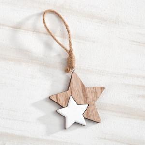 Μπομπονιέρα Βάπτισης Κρεμαστό αστέρι, σύνθεση από ξύλο & λάκα 18Η9085-110 Parisis Ζητήστε προσφορά !!!!