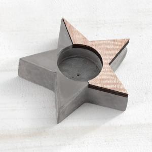 Μπομπονιέρα Βάπτισης Ρεσώ αστέρι από ξύλο & τσιμέντο 17Γ914-156 Parisis Ζητήστε προσφορά !!!!