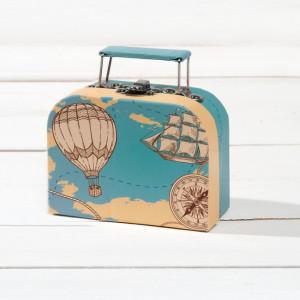 Μπομπονιέρα Βάπτισης Κουτί βαλιτσάκι για προσκλητήριο αερόστατο  81524/2-177 Parisis Ζητήστε προσφορά !!!!