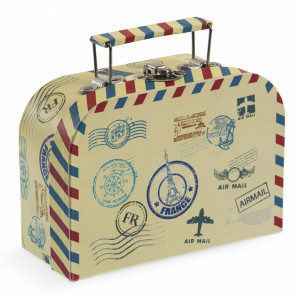 Μπομπονιέρα Βάπτισης Κουτί βαλιτσάκι για προσκλητήριο ταξίδια 81455-177 Parisis Ζητήστε προσφορά !!!!