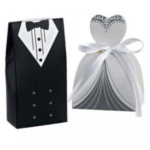Μπομπονιέρες Γάμου Κουτάκια Γαμπρός Μ1428 Νύφη Μ1429 Adorex
