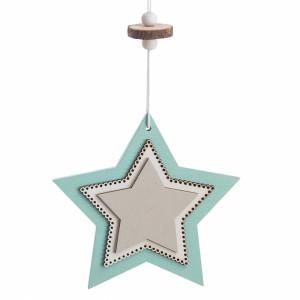 Μπομπονιέρα Βάπτισης Ξύλινο κρεμαστό διπλό αστέρι17Α154-1Σ-080 Parisis Ζητήστε προσφορά !!!!