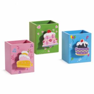 Μπομπονιέρες Βάπτισης Μολυβοθήκη με μανταλάκι Cupcakes 13Ε301 Parisis