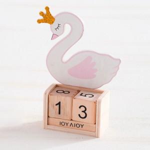 Μπομπονιέρα Βάπτισης Ξύλινο ημερολόγιο Κύκνος 18Ε996-140 Parisis Ζητήστε προσφορά !!!!