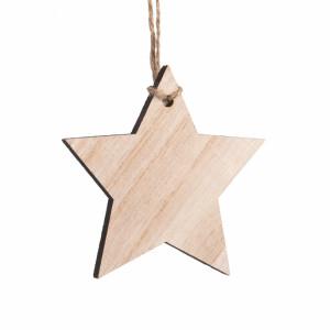Μπομπονιέρα Βάπτισης Ξύλινο κρεμαστό αστέρι, 17131-Φ -025 Parisis Ζητήστε προσφορά !!!!