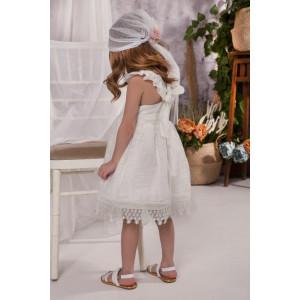 Ολοκληρωμένο πακέτο σετ βάπτισης με αυτό το φόρεμα Baby bloom 120.100 narlis.gr